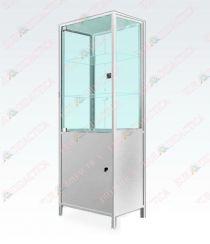 Dulap tip vitrina cu partea inferioara metalica(500x400x1610mm)