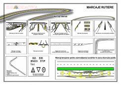 Marcaje rutiere 2 (laterale si temporare, pentru semnalizarea lucrarilor in zona drumului)