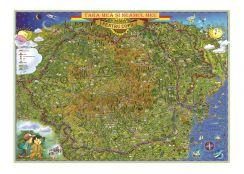 Tara mea si neamul meu. Harta pentru copii (fata) /harta de contur (verso)
