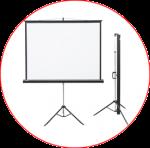 Ecrane de proiectie cu trepied