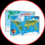 Harta lumii pentru copii (harți fără șipci)