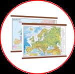 Hărţile Europei  (hărți cu șipci)