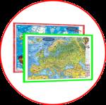 Lumea si Europa. Harţi 3D in limba engleză