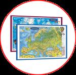 Lumea si Europa. Harţi 3D in  limba  germană