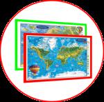 Lumea si Europa. Harţi 3D