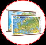 Harta Europei (hărți cu șipci)
