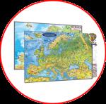 Harta Europei pentru copii (harți fără șipci)