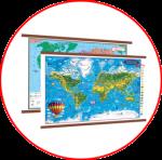 Harta lumii (hărți cu șipci)