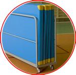 Carucioare pentru transportarea saltelelor de gimnastica
