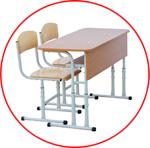Mobilier scolar dublu (reglabil)